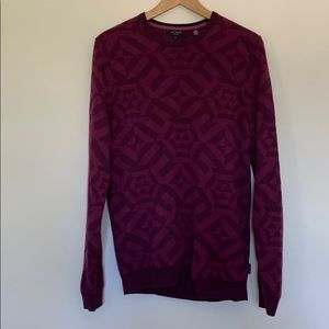 Men's Ted Baker geometric pullover